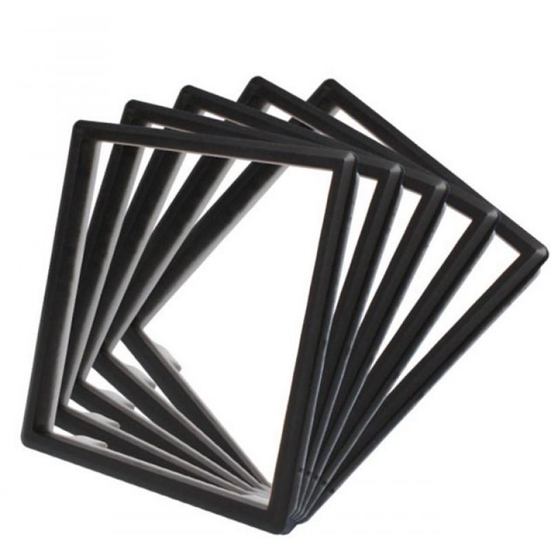 5 x Rahmen in Schwarz für Livolo Steckdosen - Touch Lichtschalter + ...