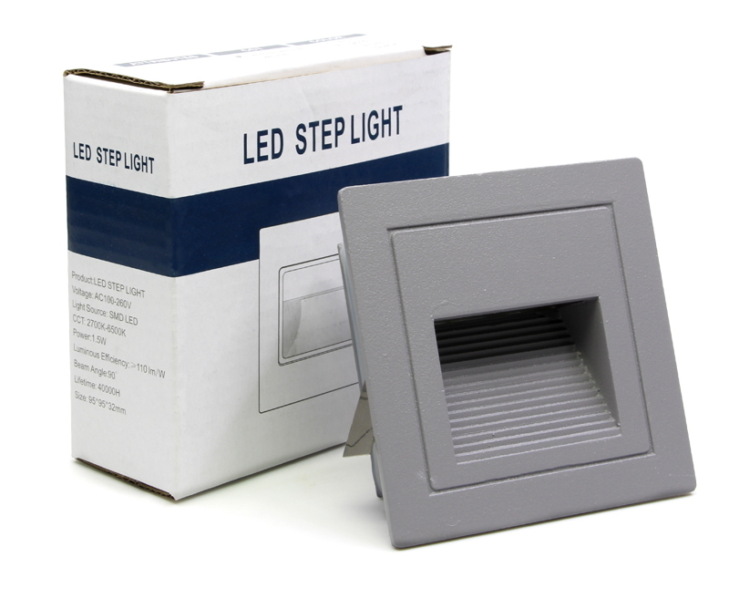 led aussen treppenbeleuchtung ip65 schutz 3w fur aussen aussenleuchte leuchte grau 1x 5x 10x