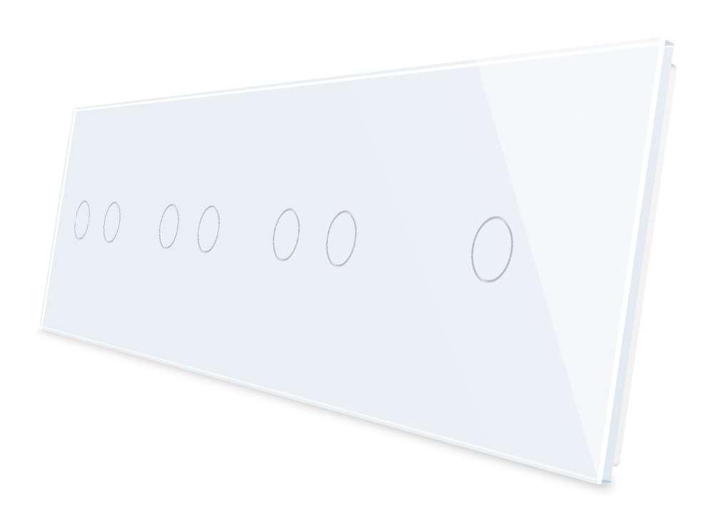 LIVOLO Glasblende 4Fach für Lichtschalter /& Steckdose VL-C7-C2//C2//C1//SR-11 Weiss